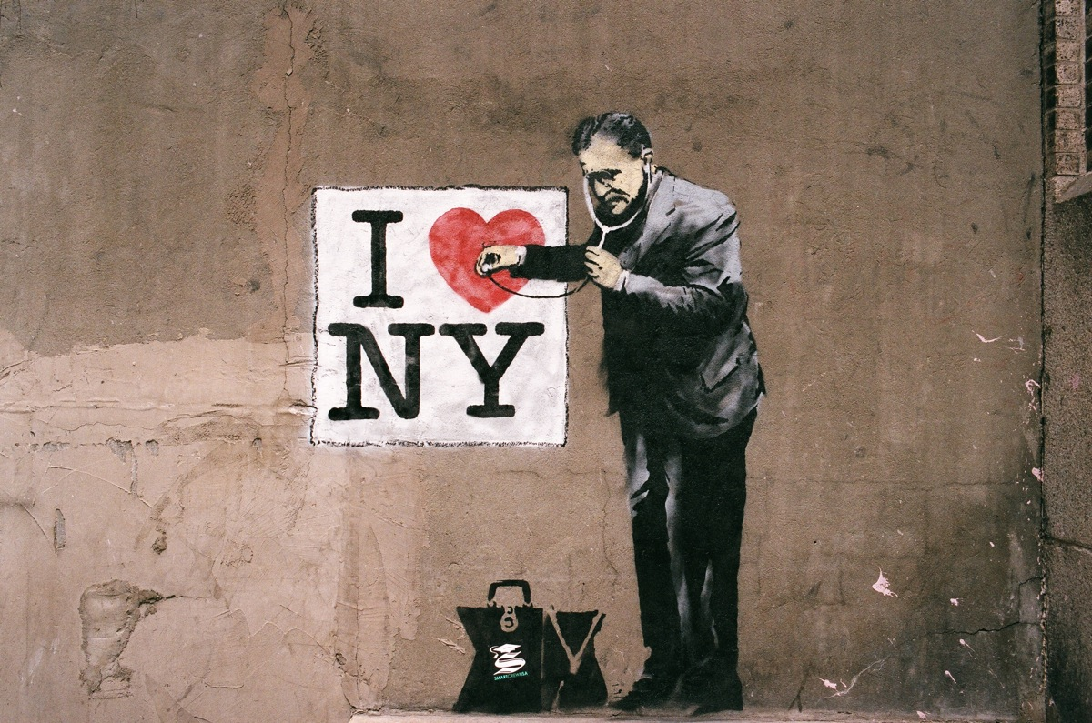 Banksy Art in Lower Manhattan