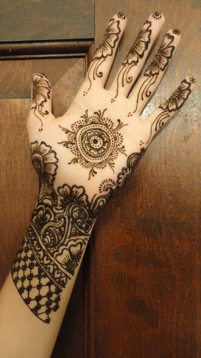 Hand Henna Tattoo Picture