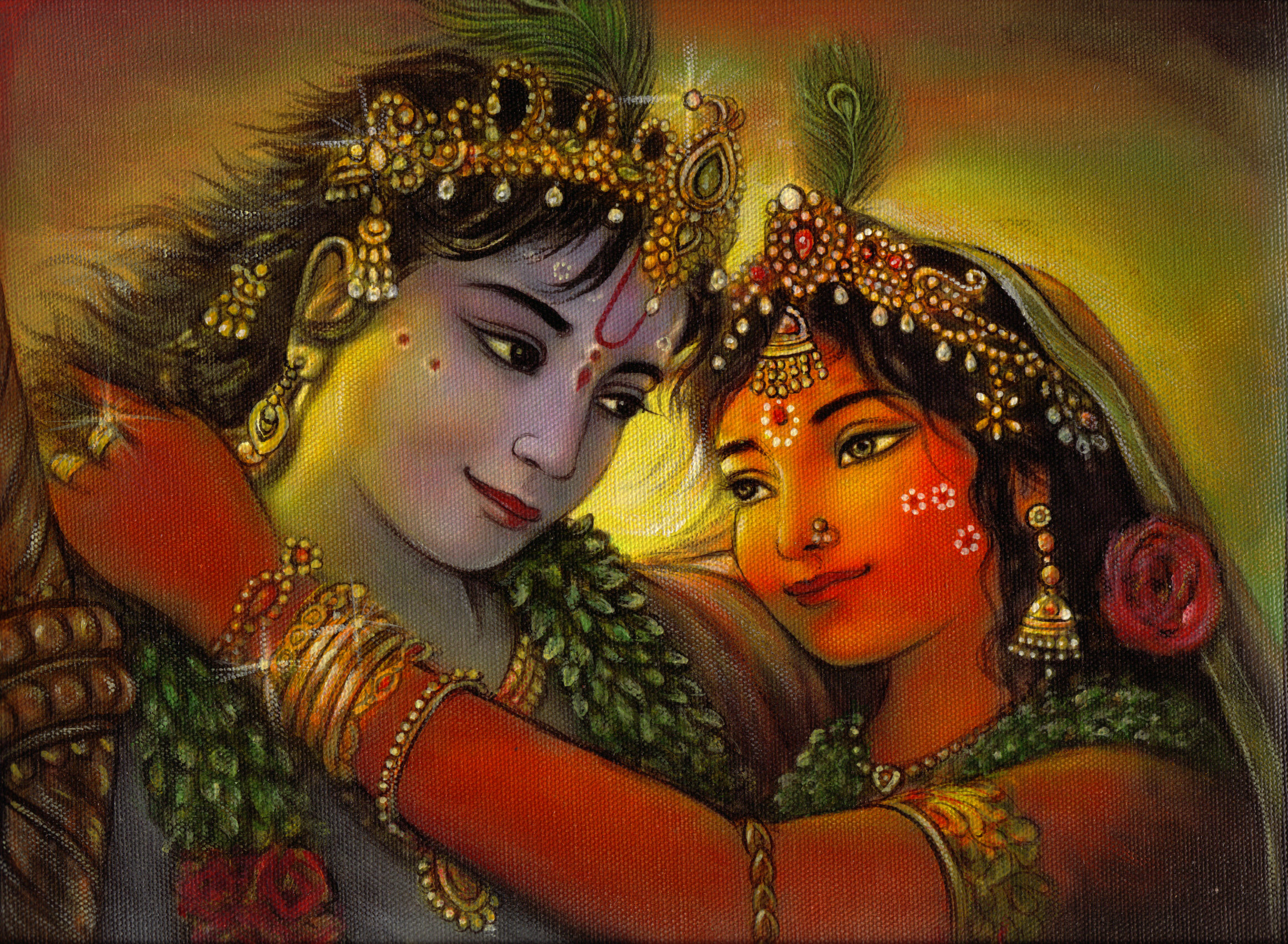 20 Modern Art Paintings Of Radha Krishna
