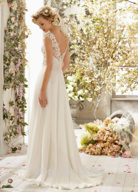 Lace Backless Bridal Gown Wedding Dress