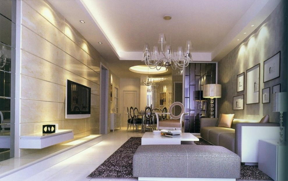 Modern-living-room-and-dining-room-lighting-ideas
