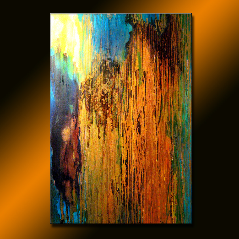 ORIGINAL Abstract Painting Contemporary Metallic Fine Art On Canvas by Henry Parsinia