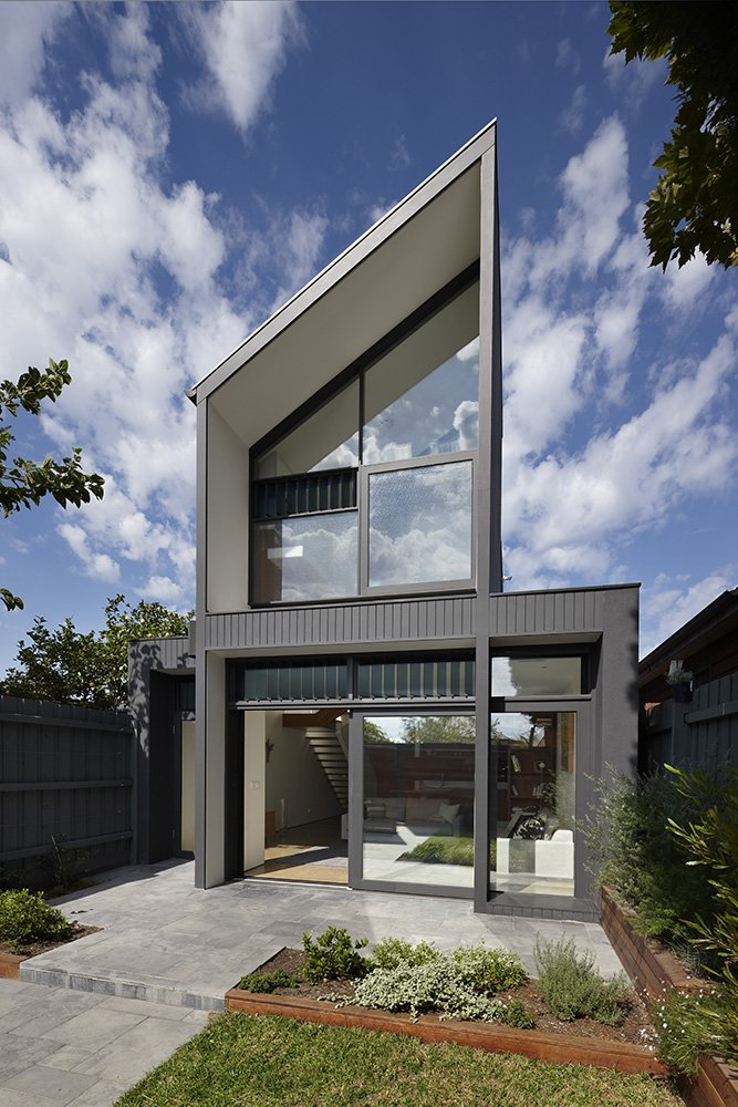 architecture architectural unique fitzroy am north modern nth dwelling detached homes australia narrow extension designs architect unusual semi contemporary angled