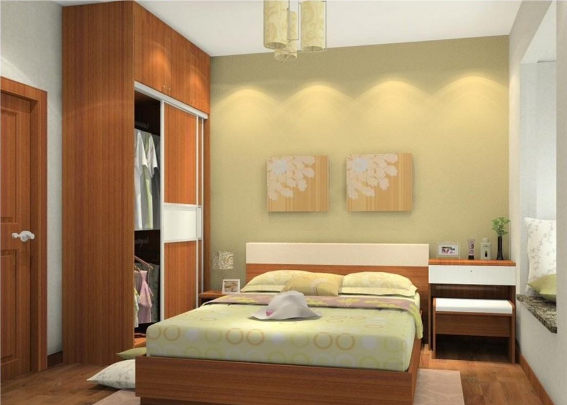 Simple interior design ideas for small bedroom for Bed room interior design images
