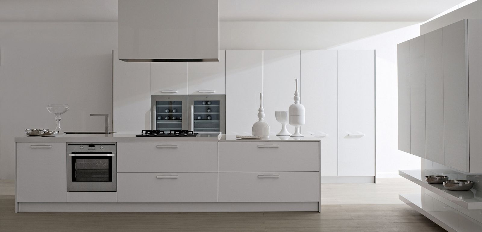 30 contemporary white kitchens ideas for Modern kitchen design