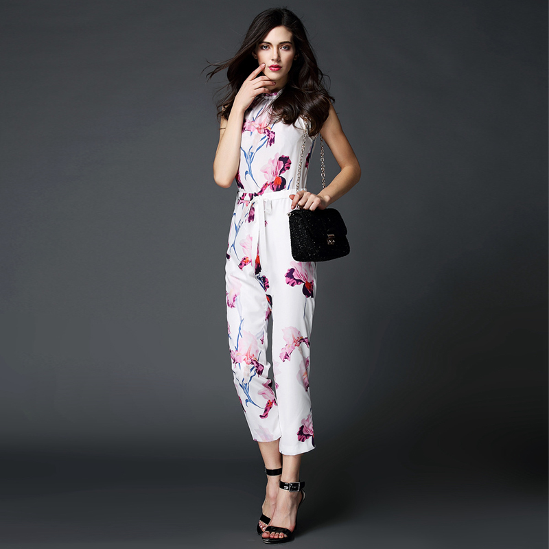 2015-new-collection-floral-print-jumpsuit-spring-summer-women-jumpsuit-sleeveless-with-elastic-drawstring-slef-tie