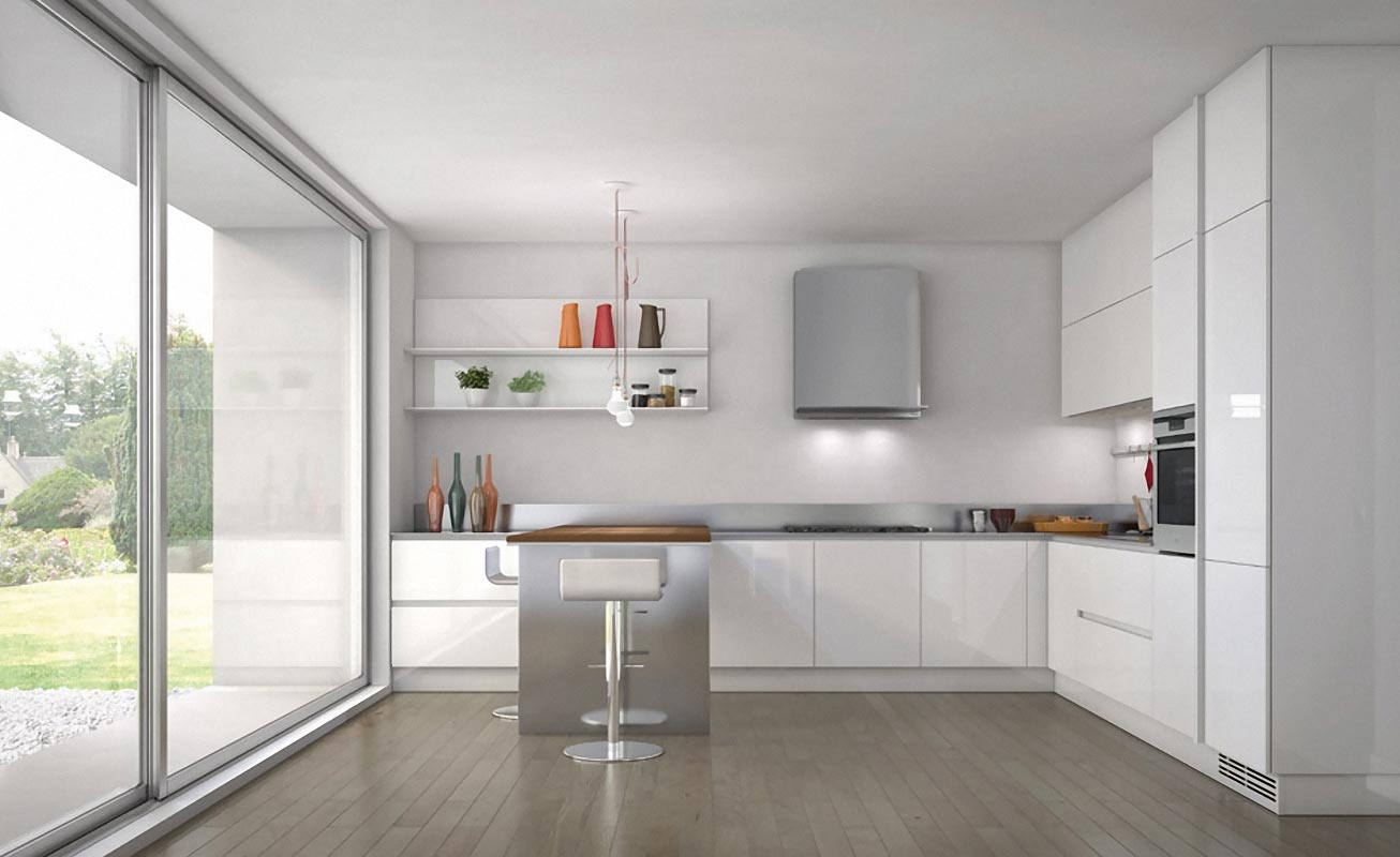 30 contemporary white kitchens ideas for Contemporary kitchen colours