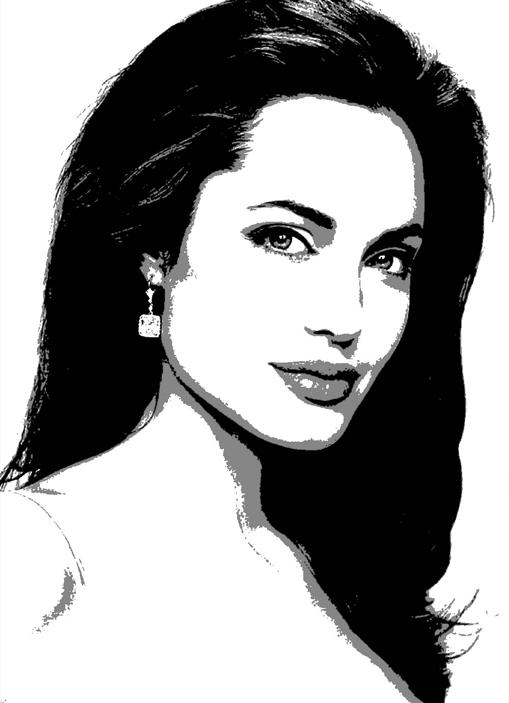 Angelina Jolie Art Pop art