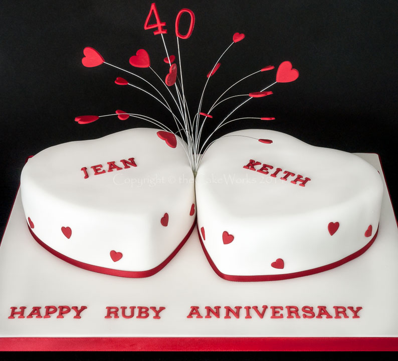 2 Month Wedding Anniversary Ideas : Heart Shaped Wedding Anniversary Cakes