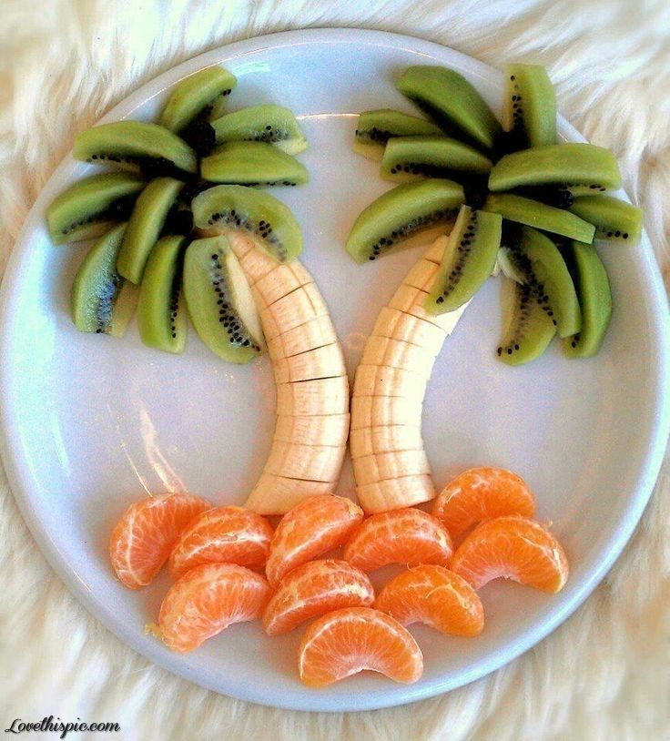 Banana, kiwi and orange art food