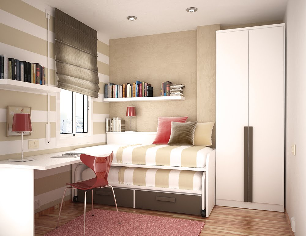 for small spaces small kids room design in two beds with space saving