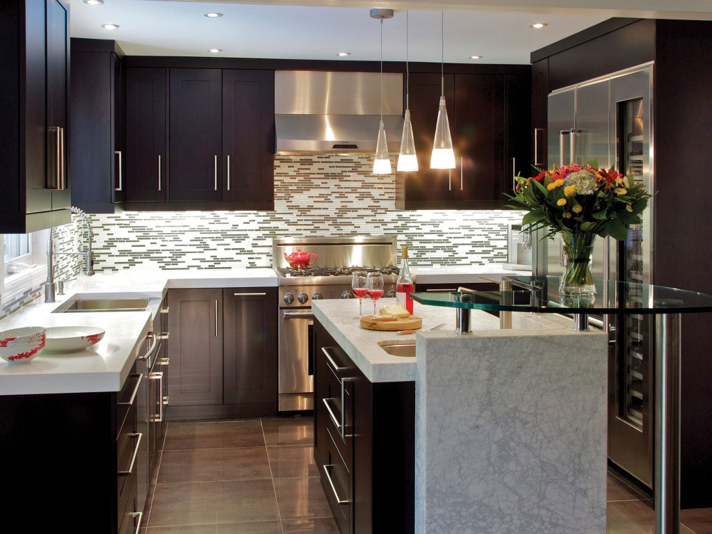 30 elegant contemporary kitchen ideas for Kitchen decor themes
