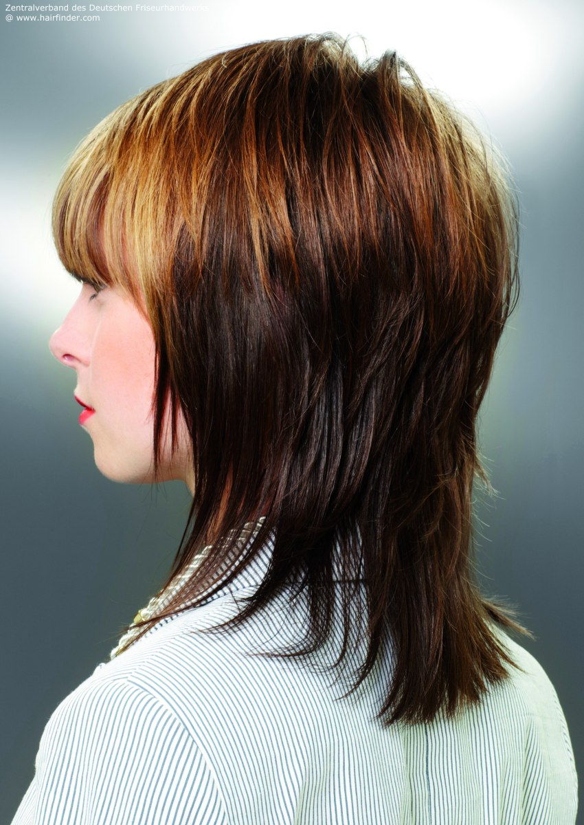 Layered-Medium-Hairstyles-Black-And-Gold-Highlight