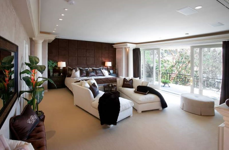 luxury master bedrooms celebrity homes interior design styles master bedroom 716