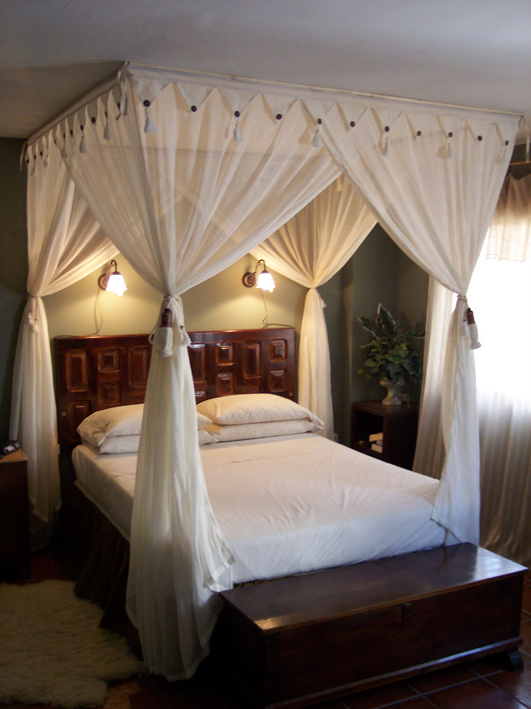 Romantic Master bed - left view