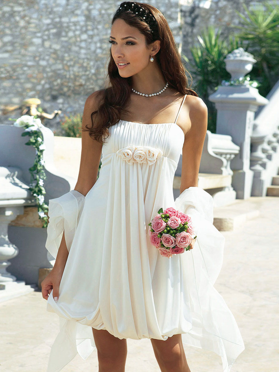 25 short beach wedding dresses for Wedding dresses for the beach 2015