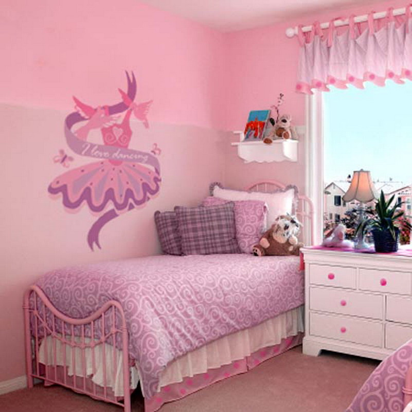 30 inspirational girls pink bedroom ideas - Small girls bedroom decor ...