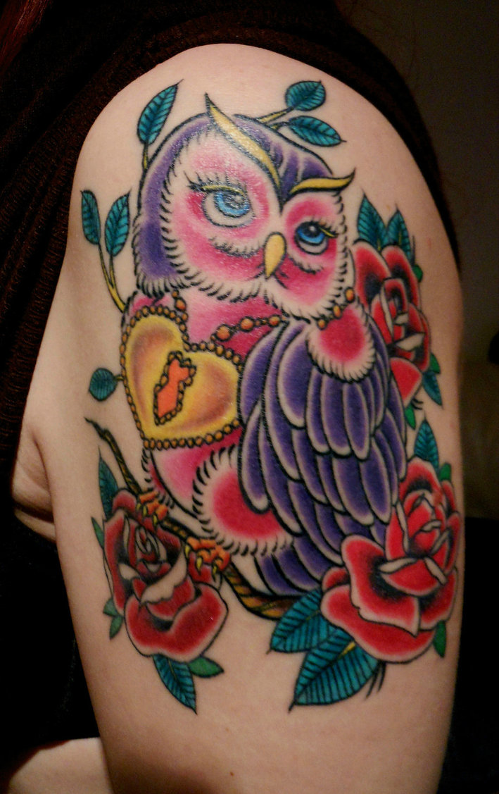 Traditional-Owl-Tattoos