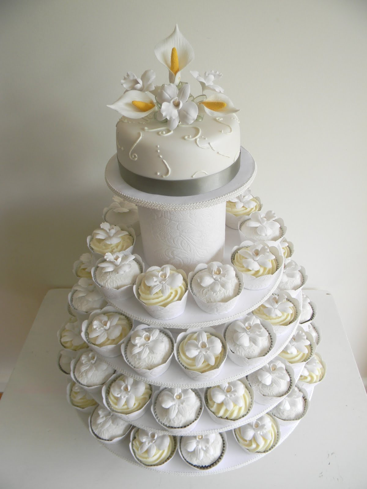 Pictures Of Cupcake Wedding Cakes
