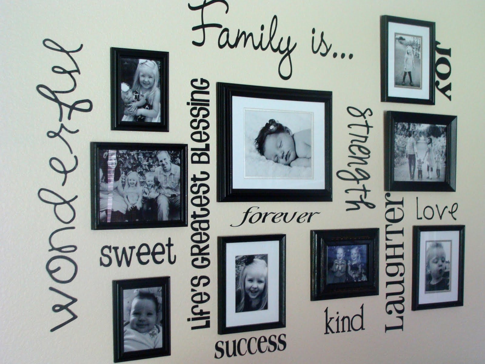 Wall Art Placement Ideas : Family picture frame wall ideas