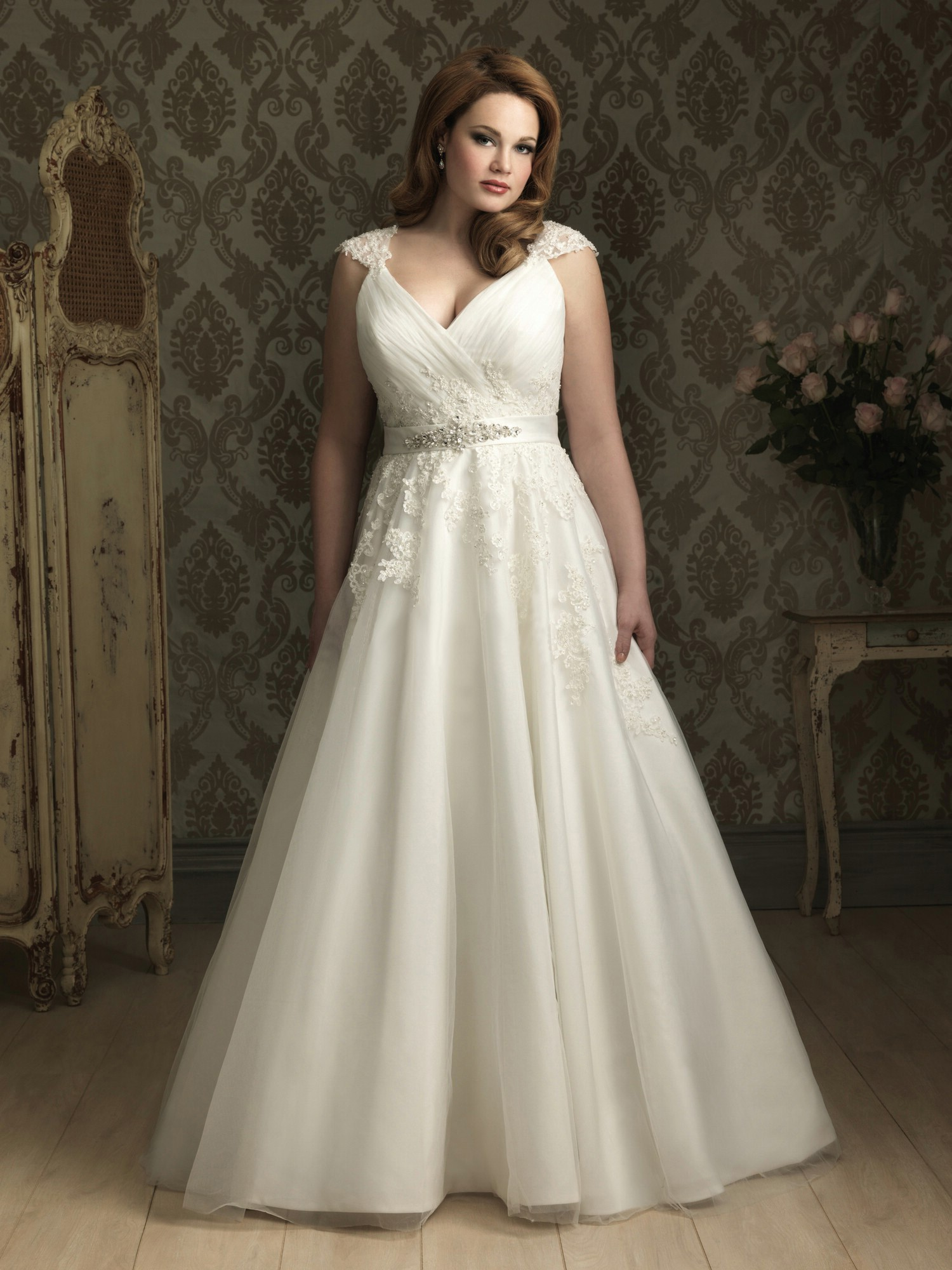 Plus size wedding dresses ball gown for Wedding dresses for larger sizes