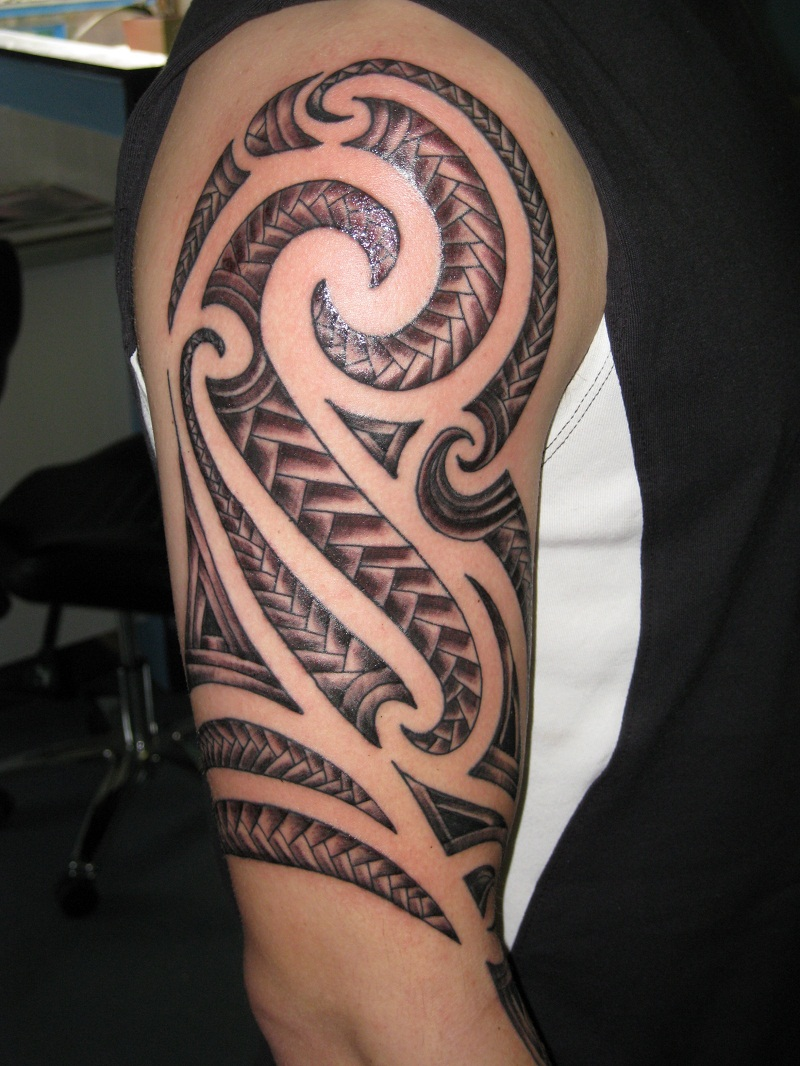 30 best tribal tattoo designs for mens arm. Black Bedroom Furniture Sets. Home Design Ideas