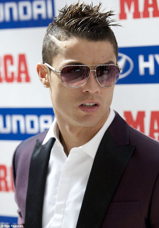 Cristiano Ronaldo showed off a new hairstyle at the Marca awards