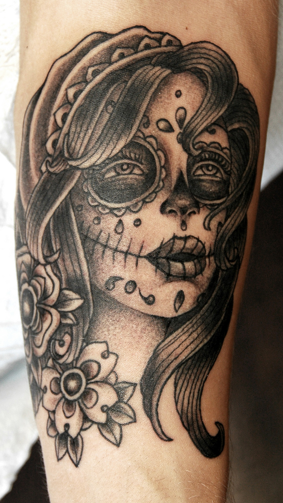 Forearm day of the dead By