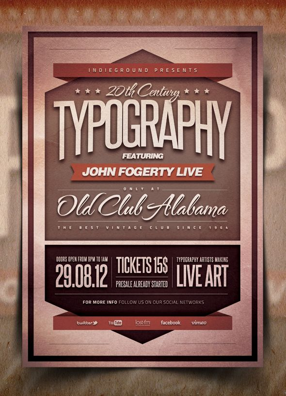 Typography Flyer Poster Vol