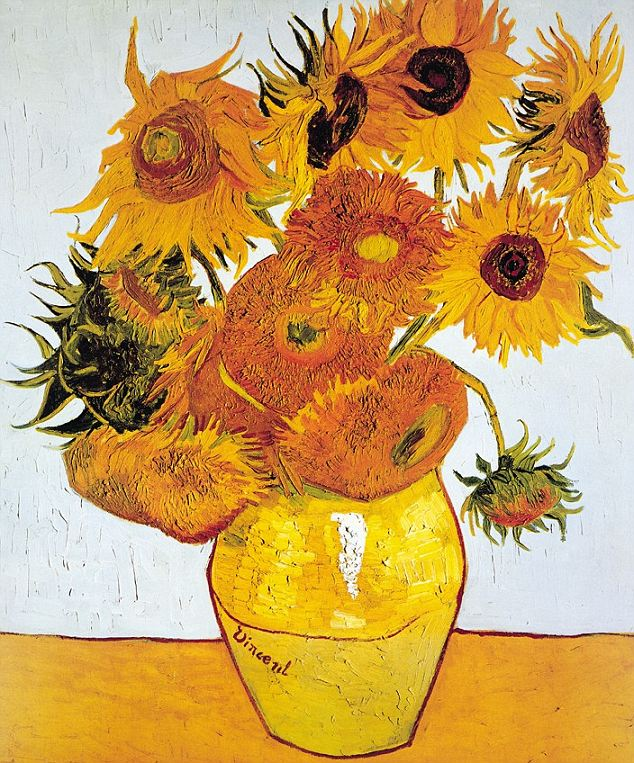 Van Gogh's famous sunflower paintings