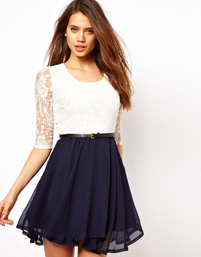new-fashion-women-elegant-vintage-sexy-lace-chiffon-pleated-dress-casual-slim-casual