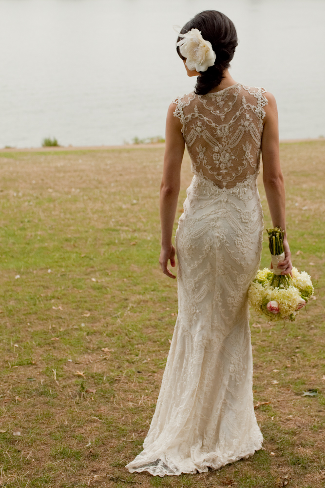 Boho chic lace back dress