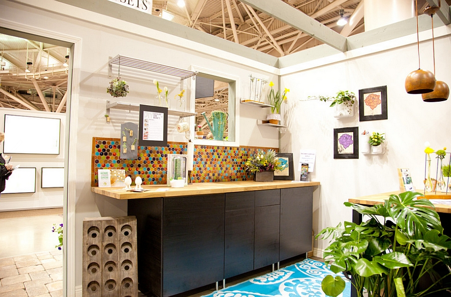 Bold-multi-color-penny-tiles-create-a-vivacious-backdrop-for-the-eclectic-kitchen