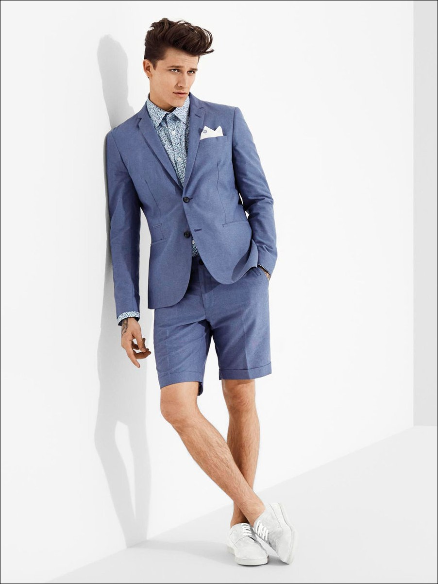 Designer Short Suits For Men Slim Fit