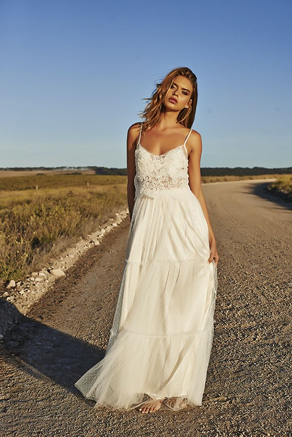 Free-spirited bohemian wedding dress