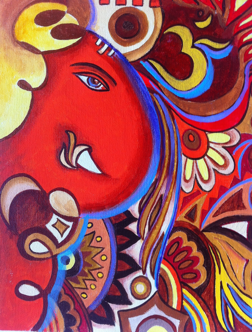Ganesh Painting Abstract