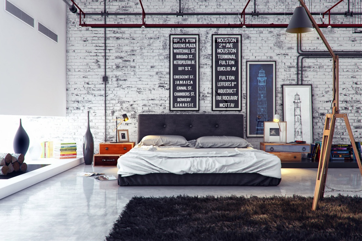 20 Industrial Bedroom Designs