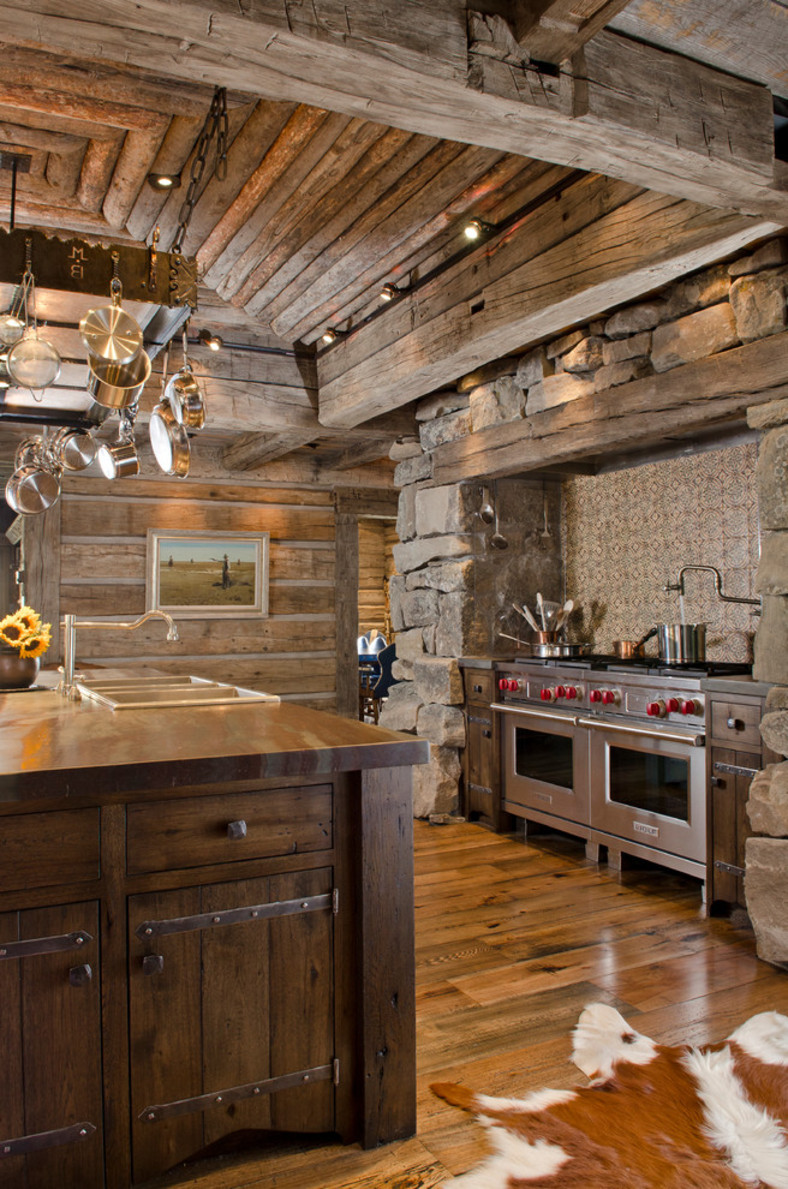 Ranch Rustic Kitchen Brilliant Design Idea