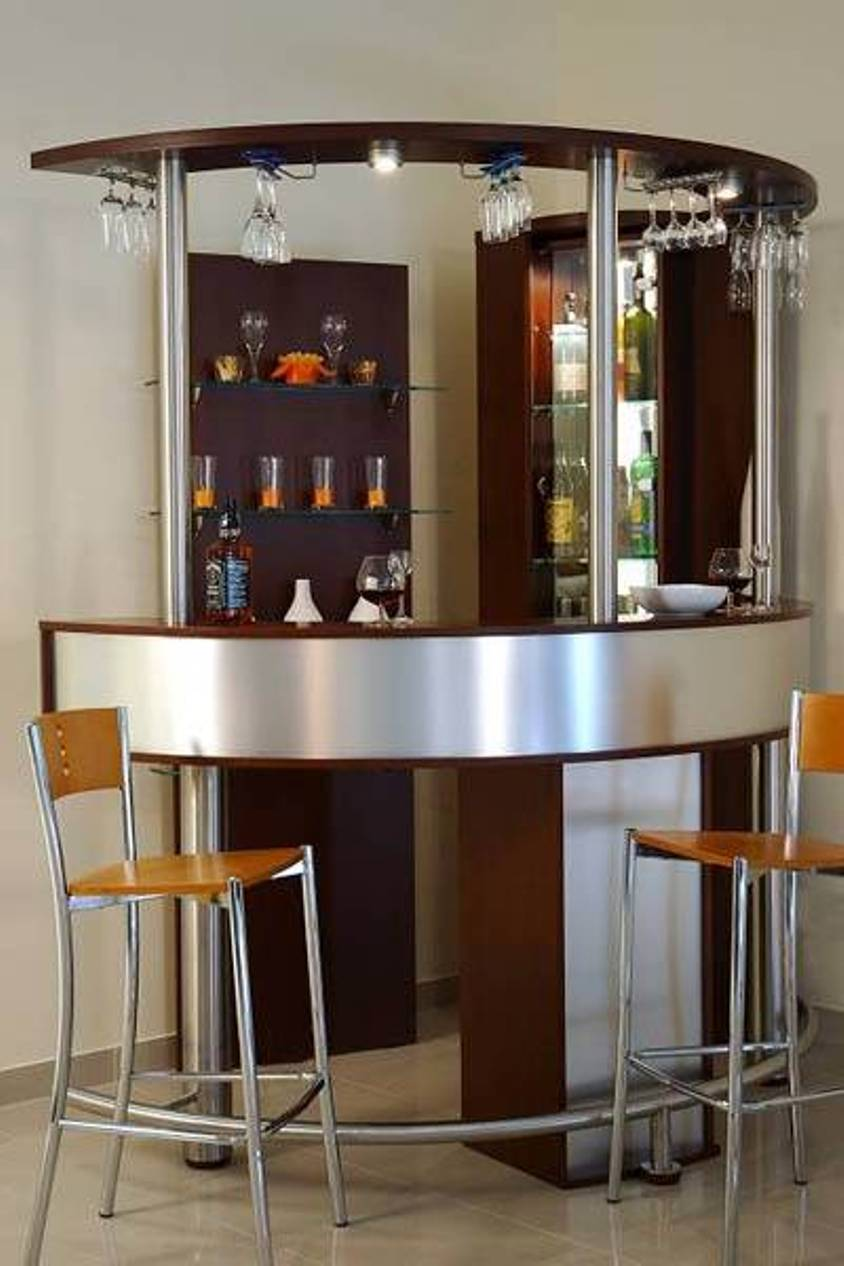Stunning Corner Small Bar Design Ideas