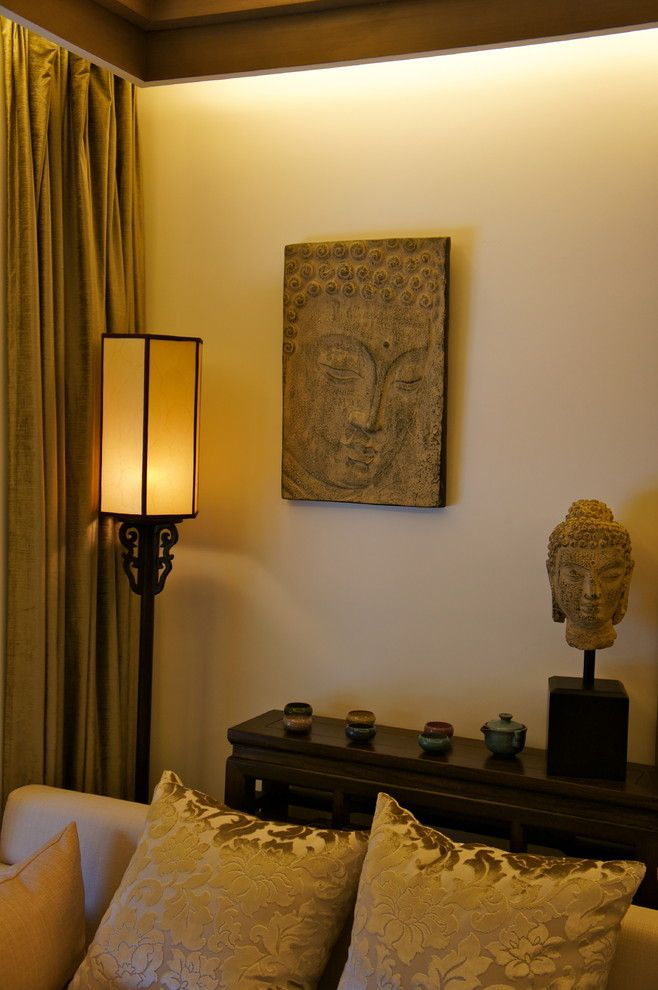 Superb Buddha Statues decorating ideas for Beguiling Living Room Asian design ideas with ZEN corner
