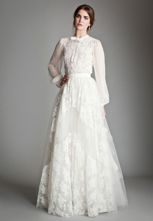 Temperley London Bridal Gown Decorer Wedding Gown Boho Lace Romantic Whimsical