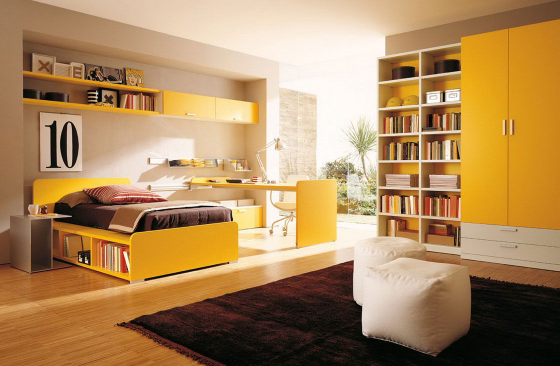 Yellow Bedroom Contemporary Design