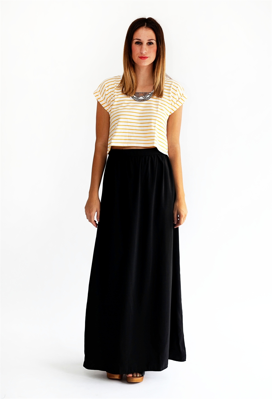 maxi skirt outfits for summer