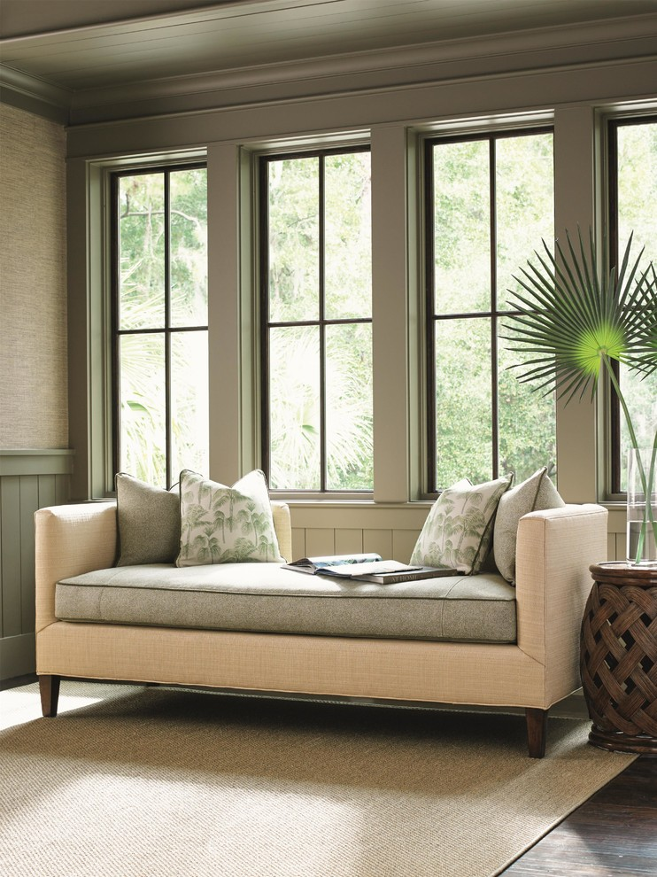 Beautiful Settee Sofa convention Other Metro Tropical Living Room Decorators with backless sofa