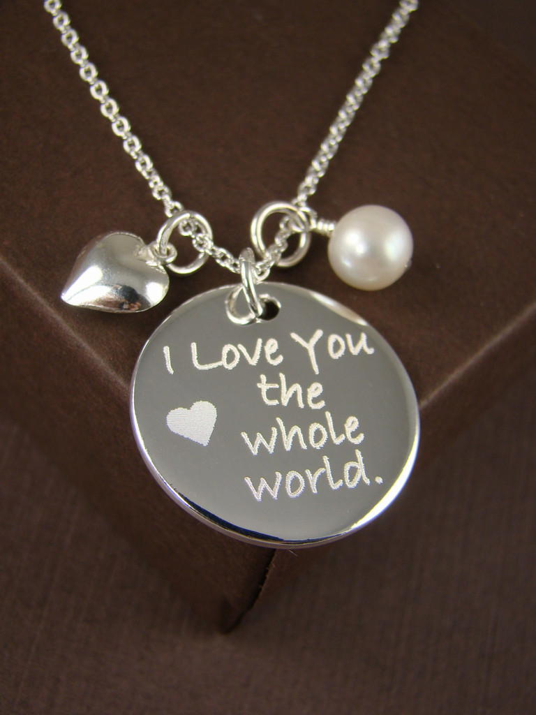 I Love You the Whole Word Necklace Pendant