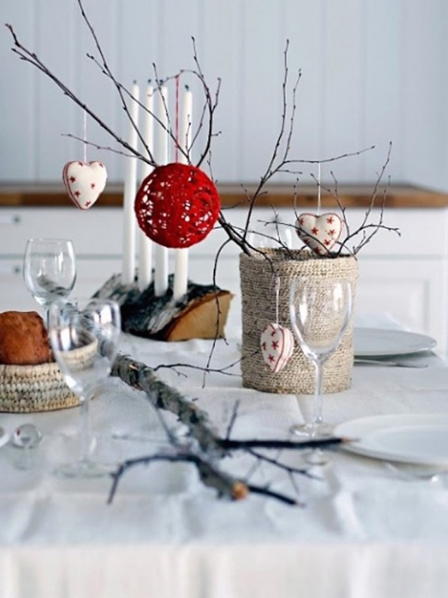 white christmas table decorating ideas