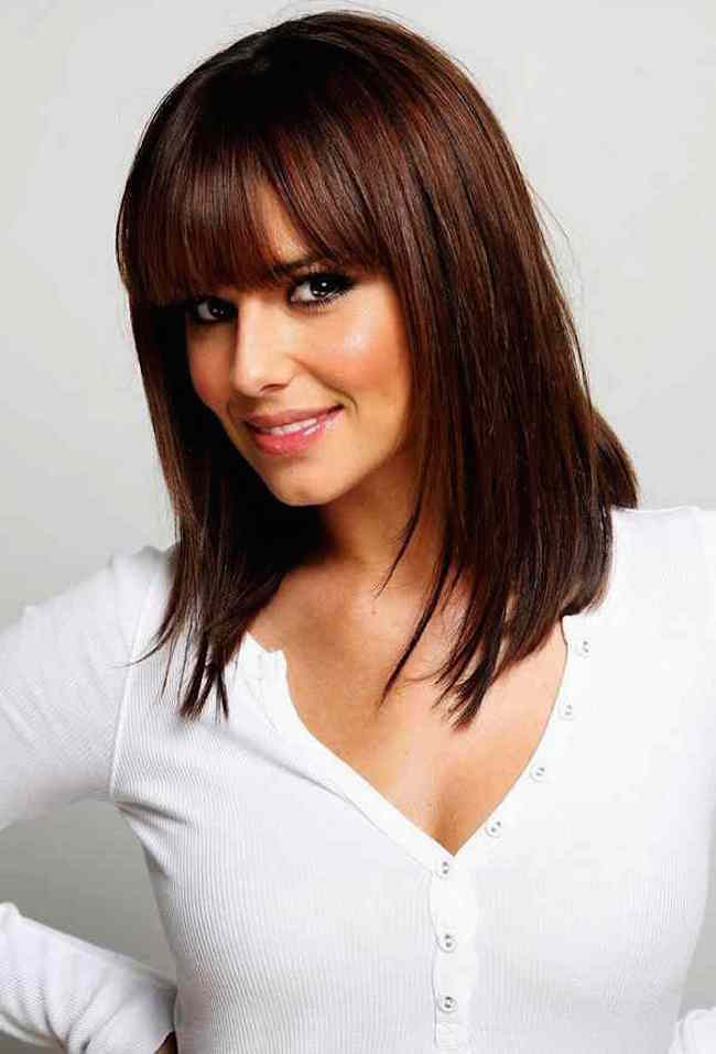 Simple Bangs Hairstyles For Medium Length Hair For Round Faces