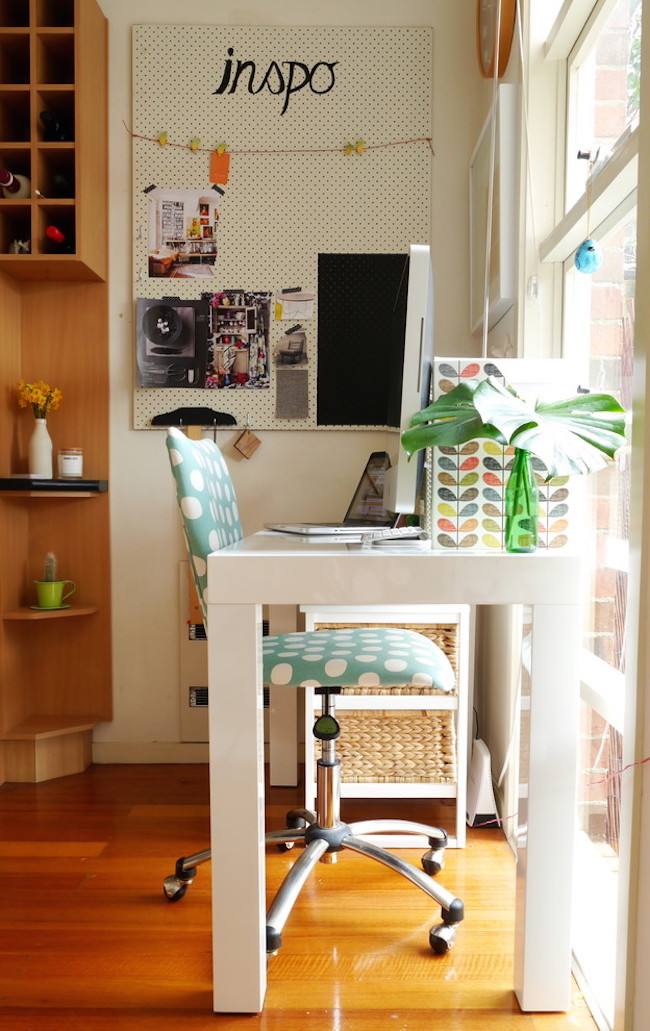 Home Office Eclectic with Asian Artwork black chair