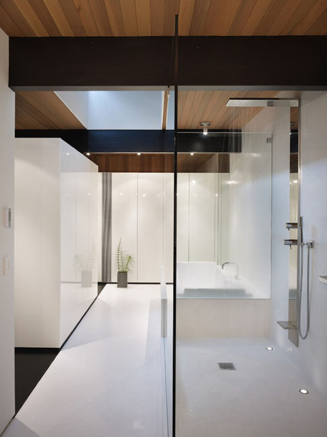 bathroom suite that's contemporary and angular