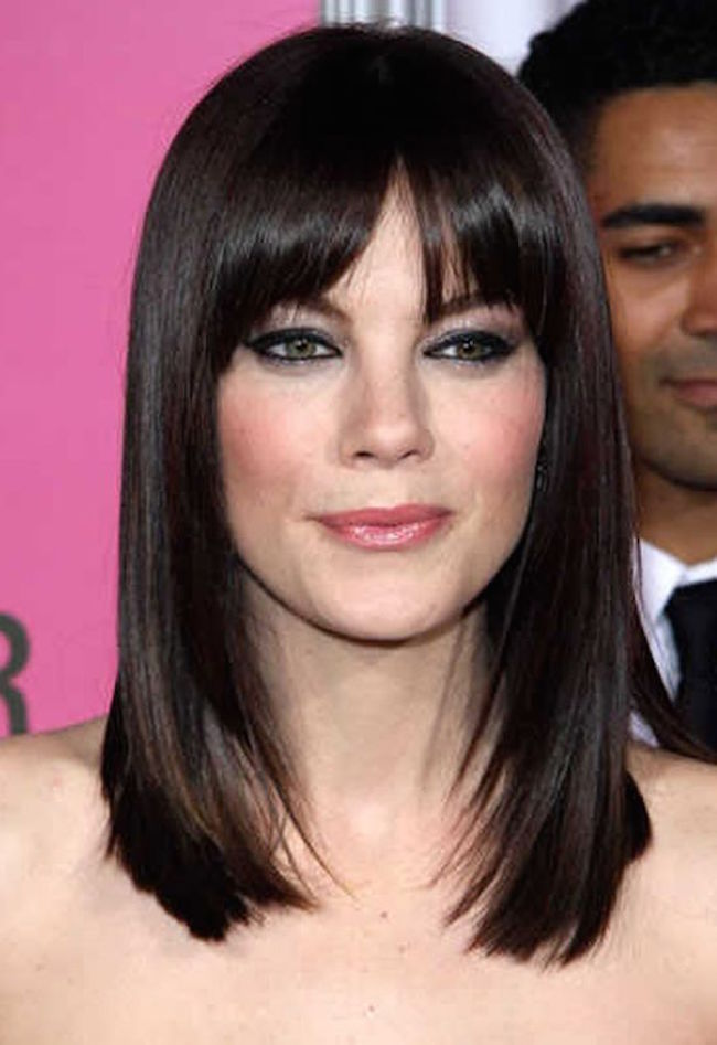 med length haircuts with bangs 20 best hairstyles with bangs feed inspiration 3126 | round face medium length hairstyles with bangs